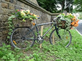 A cheerful bike at Pool-in-Wharfedale